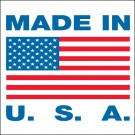 "1 x 1"" - ""Made in U.S.A."" Labels"