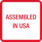 "1 x 1"" - ""Assembled in U.S.A."" Labels"