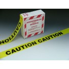 "3"" x 1000' Yellow Barricade and Warning Tape - ""Caution Caution Caution"" Message (3 mil)"