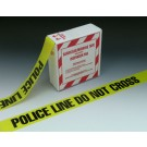 "3"" x 1000' Yellow Barricade and Warning Tape - ""Police Line Do Not Cross"" Message (3 mil)"
