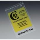 "6"" x 9"" Chemotherapy Drug Transport Zipper Bag (2 mil)"