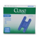 Curad® Flex-Fabric™ Metal Detectable Knuckle Bandages - Blue