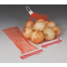 "5-1/2"" x 12"" Red Onion Bag with Header"