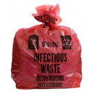 "10"" x 12"" Infectious Waste Low Density Flat Liner - Red (2 mil)"