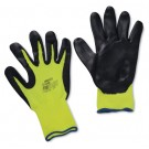 High Visibility Yellow Knit Nitrile Coated Gloves - Medium