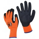 High Visibility Orange Knit Latex Coated Gloves - Medium