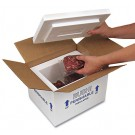 "6"" x 4-1/2"" x 3"" Insulated Styrofoam Shipping Box"