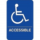 """Wheelchair Accessible"" ADA Compliant Plastic Sign"