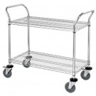 "36 x 18 x 38"" - 2 Shelf Heavy-Duty Wire Cart"
