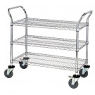 "36 x 18 x 38"" - 3 Shelf Heavy-Duty Wire Cart"
