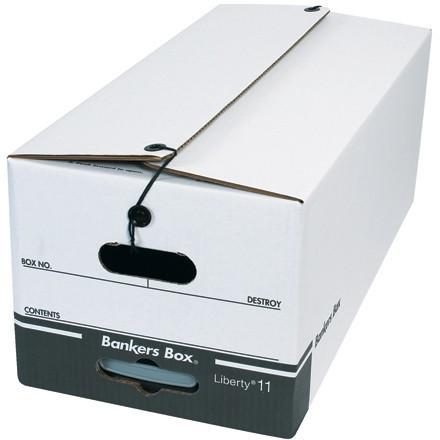 String & Button File Storage Boxes