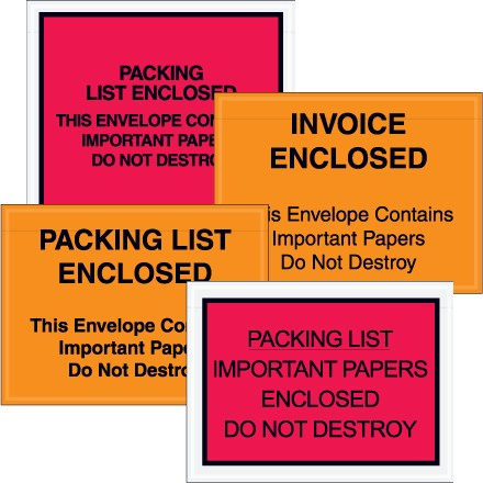 """""""Important Papers Enclosed"""" Envelopes"""